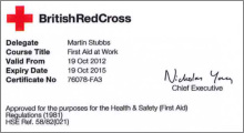 first aider certificate