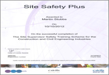 site safety+ certificate